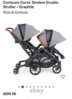 Contours Curve double twin stroller grey brand new. The best stroller for twins