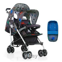 Cosatto Baby & Toddler Tandem Double Twin Stroller Pushchair Pram inc Raincover