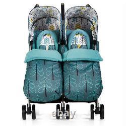 Cosatto Boys Twin Double Stroller Buggy Pushchair Inc Raincover & Footmuff