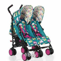 Cosatto Double Twin Baby Toddler Stroller Buggy Pushchair inc Raincover
