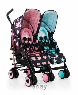 Cosatto Supa Dupa Twin Double Stroller, Sis and Bro 5 Design
