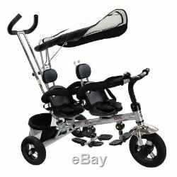 Costzon 4 In 1 Dual Twins Kids Trike Baby Toddler Tricycle Safety Double Seat