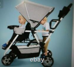 Cynebaby Twin Stroller Trolley Model BD-228 BLUE - S5