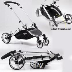 DB-10 Pushchair Buggy Baby Travel Pram Stroller Twin/Double Transportation