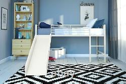 DHP Junior Loft Bed with Slide, Twin, Multiple Colors Available