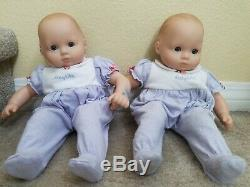 Discontinued American Girl Bitty Baby double twin stroller with (2) dolls