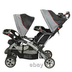 Double Baby Stroller Travel System Infant Twin Car Seat Carrier Buggy New