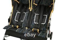 Double Infant Stroller Twin Umbrella Folding Pushchair Infant Safety Travel Set