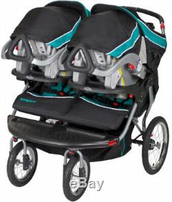 Double Jogger Stroller, Baby Trend Navigator, Tropic, Perfect for Twins