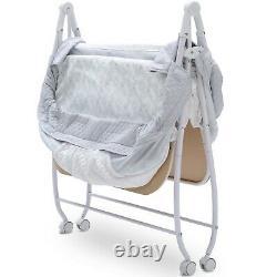 Double Rolling Bassinet Foldable Twins Compact Portable Sleep Nursery Newborn