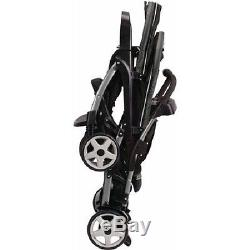 Double Stroller Baby Twin Tandem Inline Click Connect Gotham Black Infant Twins