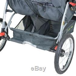 Double Stroller TWIN Tandem Baby Toddler kid Infant Swivel 2 Seater Strollers