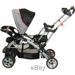 Double Travel System Baby Strolle Infant Twin Car Seat Carrier Carriage Buggy