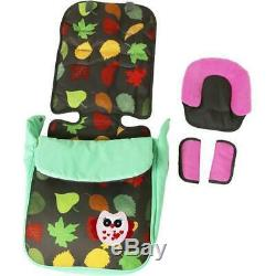 Double Twin Stroller Buggy Pushchair inc Raincover Cup Holder Bumper bar & Bag
