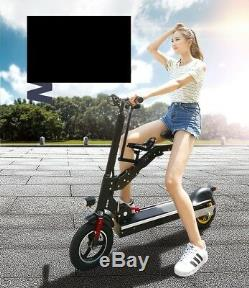 Electric Parent Child Folding Electric Scooter Twin Double Seat Tandem E- Bike
