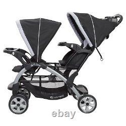 Elite Baby Boy Double Stroller with 2 Car Seats Twins Nursery Center 2 Swings