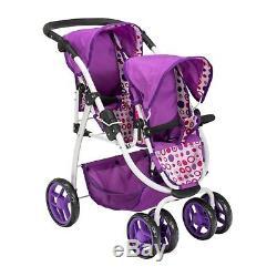 Ella Tandem Stroller Baby Kids Toy Pram Double Buggy Twin Dolls Pushchair Girls 03 sw