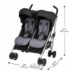 Evenflo Minno Twin Double Baby Stroller (Glenbarr Grey)