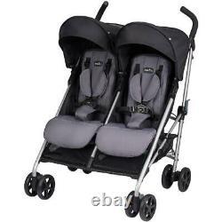 Evenflo Minno Twin Lightweight Double Stroller, Glenbarr Grey