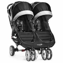 Ex Display Baby Jogger City Mini Double/Twin Stroller Black, Pushchair Immacul