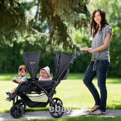 Foldable Lightweight Twin Baby Double Stroller Infant Pushchair Travel Outdoor