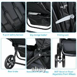 Foldable Twin Baby Double Stroller Lightweight Travel Stroller Infant Pushchair