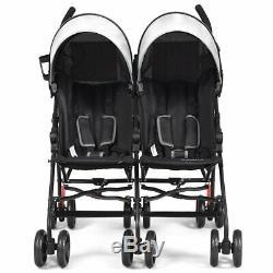 Foldable Twin Baby Double Stroller Ultralight Umbrella Kids Stroller