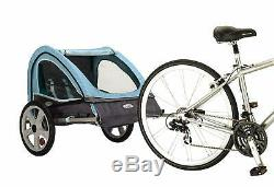 Folding Bike Trailer Kid Carrier Bicycle Double Twin Toddler Baby Infant Pet Dog