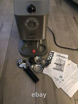 Gaggia Baby Twin Home Espresso Machine Single Double Coffee Brushed Stainless