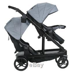 Graco Baby UNO2DUO Twin Tandem Double Stroller Second Seat Hayden NEW