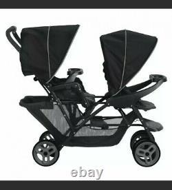 Graco Stadium Duo Tandem Twin Seat Buggy Stroller Pushchair Black / Grey