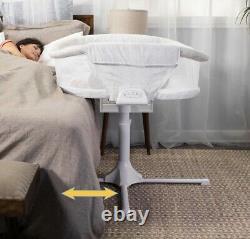 HALO Bassinest Twin Sleeper Double Bassinet Infant Baby Crib Sand Circle