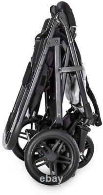 Hauck Rapid 3R 1 Hand Fold Duo Twin Double Buggy Pushchair Pram Charcoal Black