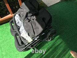 Hauck Swift X Duo Super Light Twin Double Buggy Pushchair Pram Black With extras