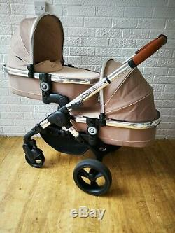 ICandy Peach 3 double twin pram bundle with car seats 3 in 1 Brown Butterscotch