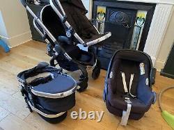 Icandy Peach Blossom Twin Pram, Carrycots & Maxi Cosi Car Seats