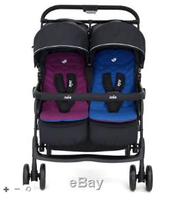 Joie Aire Twin Pink/Blue Pushchairs Double Seat Stroller
