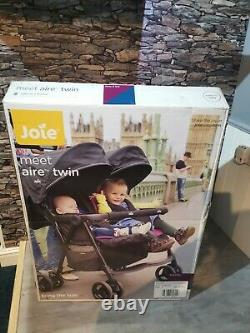 Joie Aire Twin Stroller Rosy & SeaBrand new boxed next day del