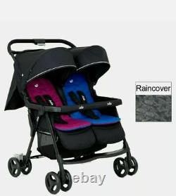 Joie Aire Twin Stroller Rosy & Sea £140