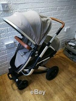 Joolz Geo Duo double twin pram pushchair 2 seats 2 carrycots