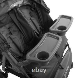 Joovy ScooterX2 Twin Stroller Double Stroller with Two Trays, Charcoal