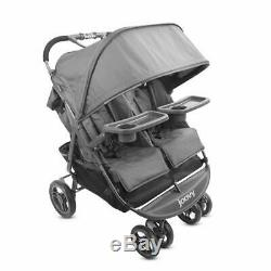 Joovy Scooterx2 Twin Stroller Double 2 Children Baby In Seat Storage Charcoal