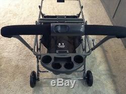 Joovy Twin Roo+ Black Standard Double Carseat Stroller