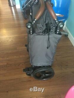 Keenz 7S Twin Baby Double Stroller Wagon Easy Fold W Canopy and Bag Grey NEW