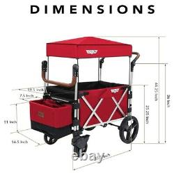 Keenz 7S Twin Baby Double Stroller Wagon Easy Fold W Canopy and Bag Red NEW
