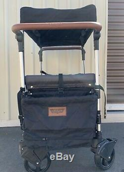 Keenz 7S Twin Baby Double Stroller Wagon Easy Fold WithCanopy & Bag Black SEE PICT