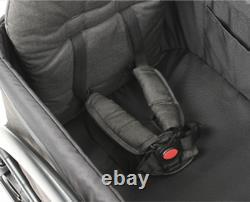 Keenz Class Twin Baby Double Stroller Wagon Easy Fold Lightweight w Canopy Black