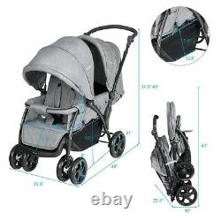 Lightweight Baby Jogger City Select Double Twin Tandem Stroller With Second Seat