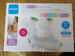 MAM Electric & Manual Double Breast Pump 2 In 1 Twin Baby Bottle