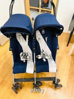 Maclaren 2016/2017 Medieval Blue/Silver Twin Triumph Double Stroller